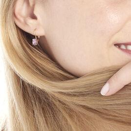 Boucles D'oreilles Pendantes Hedel Or Jaune Amethyste - Boucles d'oreilles pendantes Femme | Histoire d'Or