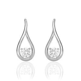 Boucles D'oreilles Pendantes Paloma Argent Blanc Oxyde De Zirconium - Boucles d'oreilles fantaisie Femme | Histoire d'Or