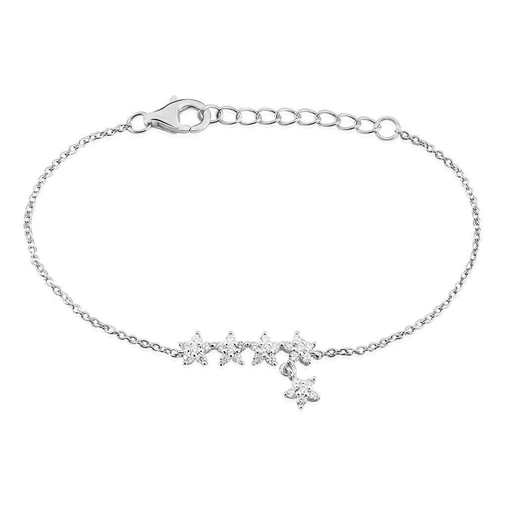 Bracelet Laetizia Constellation Argent Blanc Oxyde De Zirconium - Bijoux Etoile Femme | Histoire d'Or