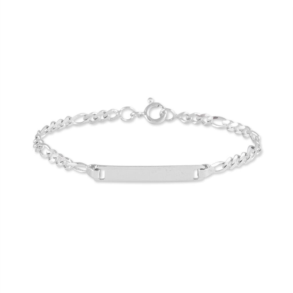 Bracelet Identité Nouraya Argent Blanc - Bracelets Communion Enfant   Histoire d'Or