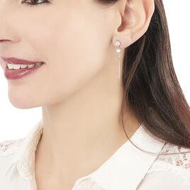 Boucles D'oreilles Pendantes Elian Or Jaune Oxyde De Zirconium - Boucles d'Oreilles Plume Femme | Histoire d'Or