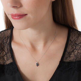 Collier Bouquet Or Blanc Saphir Diamant - Bijoux Femme   Histoire d'Or