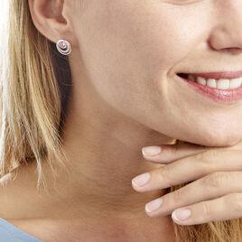 Boucles D'oreilles Puces Melvyn Argent Blanc Oxyde De Zirconium - Boucles d'oreilles fantaisie Femme | Histoire d'Or