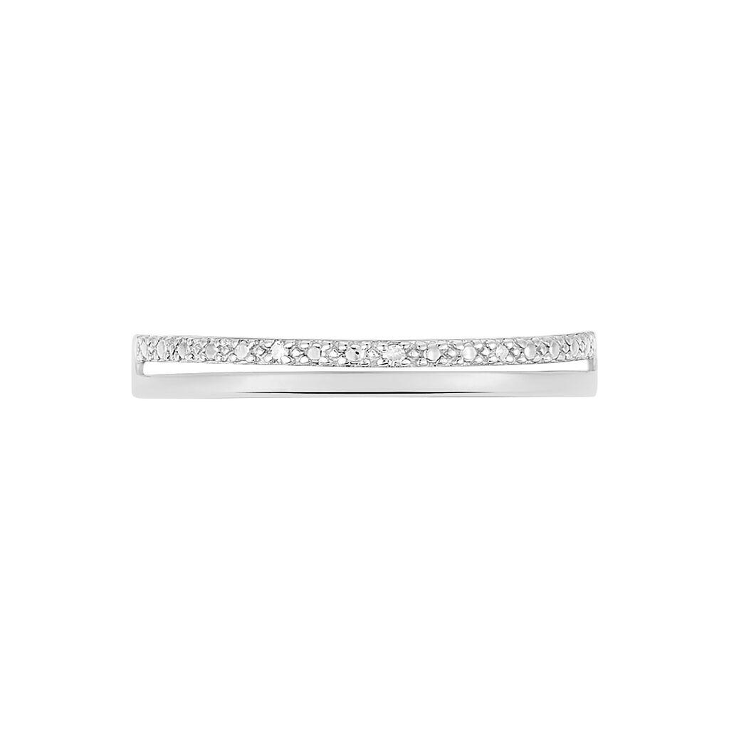 Bague Olena Or Blanc Diamant - Bagues avec pierre Femme   Histoire d'Or
