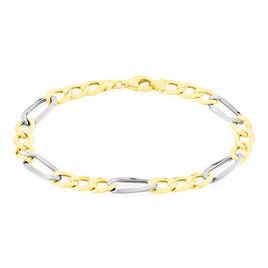 Bracelet Cameo Maille Alternee 1/3 Or Bicolore - Bracelets chaîne Homme | Histoire d'Or