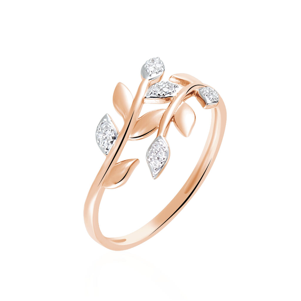Bague Emelyne Or Rose Diamant