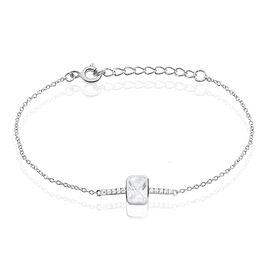 Bracelet Eva-maria Argent Blanc Oxyde De Zirconium - Bracelets fantaisie Femme   Histoire d'Or