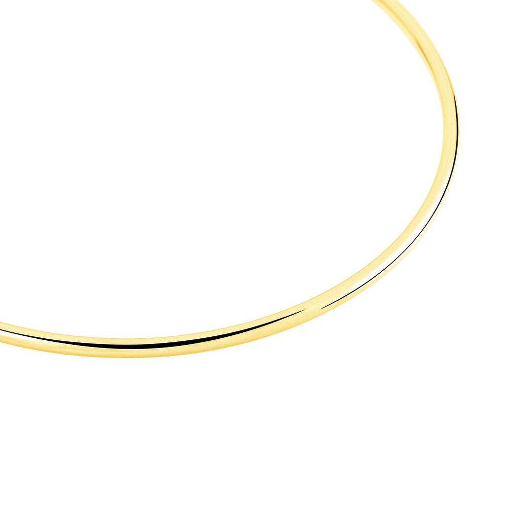 Bracelet Jonc Cynthia Fil Rond Lisse Or Jaune - Bracelets joncs Unisexe | Histoire d'Or