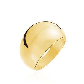 Bague Cleoria Acier Jaune - Bagues fantaisie Femme | Histoire d'Or