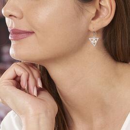 Boucles D'oreilles Pendantes Oriane Argent Blanc Oxyde De Zirconium - Boucles d'oreilles fantaisie Femme   Histoire d'Or