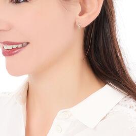 Boucles D'oreilles Pendantes Gordana Plaque Or Oxyde De Zirconium - Boucles d'oreilles fantaisie Femme | Histoire d'Or