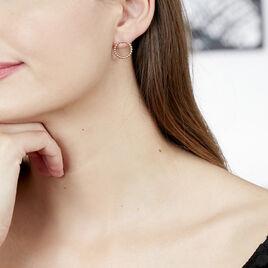 Boucles D'oreilles Puces Abigael Plaque Or Jaune - Boucles d'oreilles fantaisie Femme | Histoire d'Or
