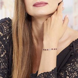 Bracelet Hazan Argent Blanc Pierre De Synthese - Bracelets Coeur Femme   Histoire d'Or