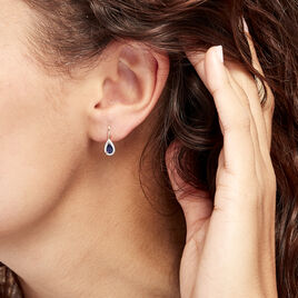 Boucles D'oreilles Pendantes Doorsie Or Jaune Saphir Et Diamant - Boucles d'oreilles pendantes Femme   Histoire d'Or