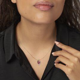Collier Hoela Or Jaune Diamant Et Rubis - Bijoux Femme | Histoire d'Or