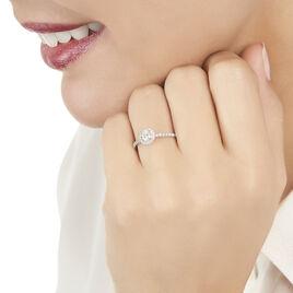 Bague Solitaire Lena Or Blanc Diamant - Bagues avec pierre Femme   Histoire d'Or