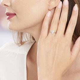 Bague Savannah Argent Blanc Oxyde De Zirconium - Bagues avec pierre Femme | Histoire d'Or