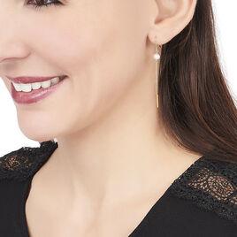 Boucles D'oreilles Pendantes Salman Or Jaune Perle De Culture - Boucles d'oreilles pendantes Femme | Histoire d'Or