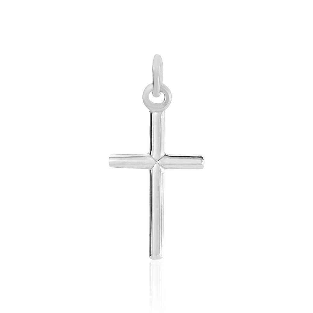 Pendentif Gilia Argent Blanc - Pendentifs Croix Famille | Histoire d'Or