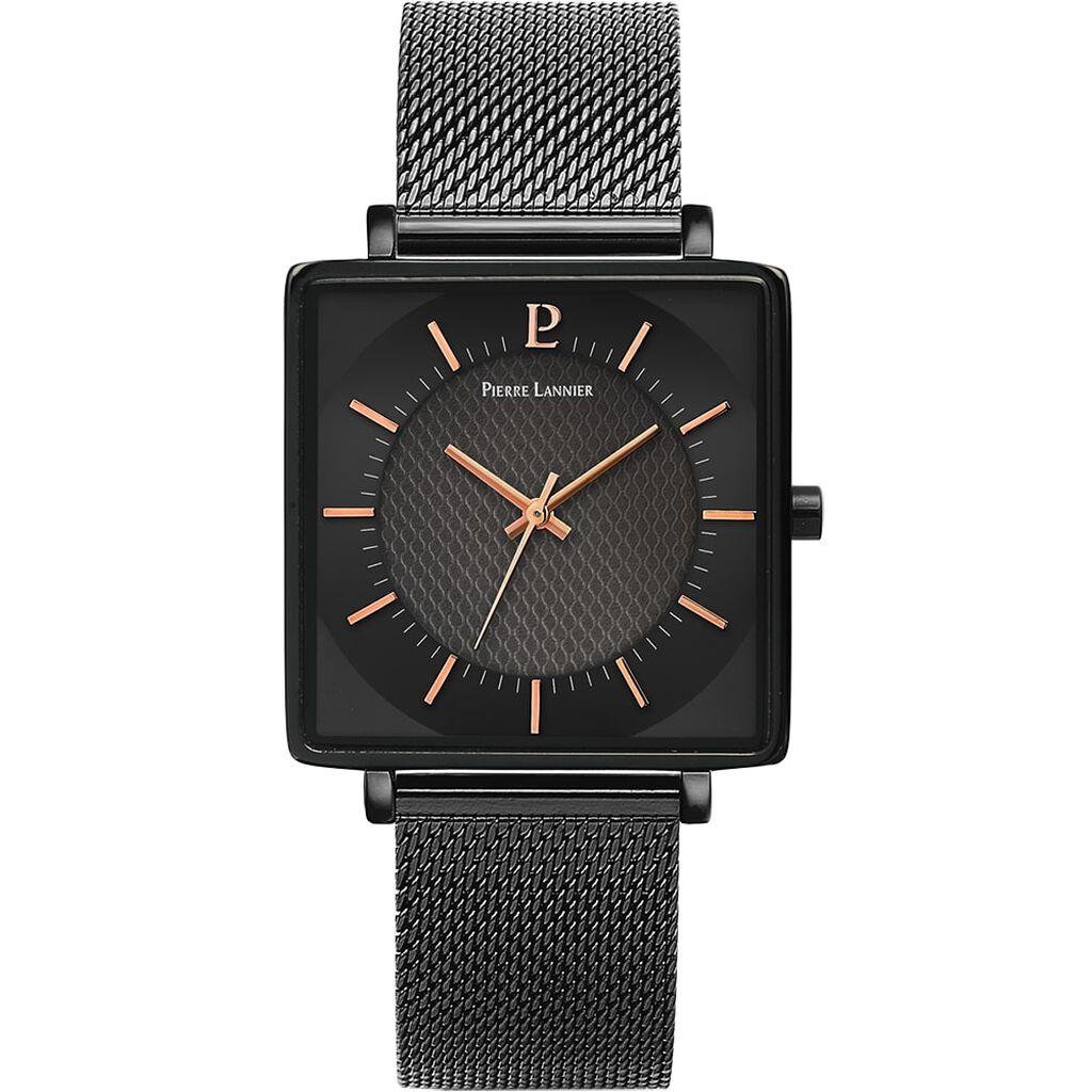 Montre Pierre Lannier Collection Lecare Noir