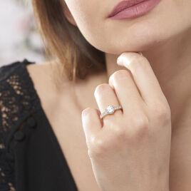Bague Solitaire Stevie Plaque Or Jaune Oxyde De Zirconium - Bagues solitaires Femme | Histoire d'Or