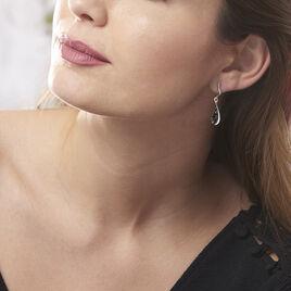 Boucles D'oreilles Pendantes Odilon Argent Blanc Ambre - Boucles d'oreilles fantaisie Femme   Histoire d'Or