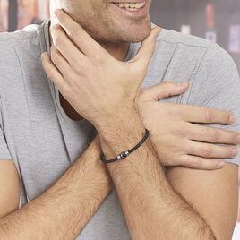 Bracelet Acier Blanc - Bracelets cordon Homme | Histoire d'Or