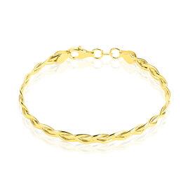 Bracelet Jonc Anaisaae Tresse Or Jaune - Bracelets joncs Femme   Histoire d'Or