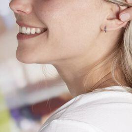 Créoles Andgelina Rondes Or Jaune Oxyde De Zirconium - Boucles d'oreilles créoles Femme   Histoire d'Or