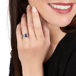 Bague Justine Or Blanc Saphir Et Diamant - Bagues avec pierre Femme | Histoire d'Or