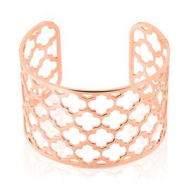 Bracelet Manchette Nevenka Acier Rose - Bracelets Trèfle Femme | Histoire d'Or