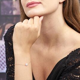 Bracelet Lorraine Argent Rose Oxyde De Zirconium - Bracelets fantaisie Femme | Histoire d'Or