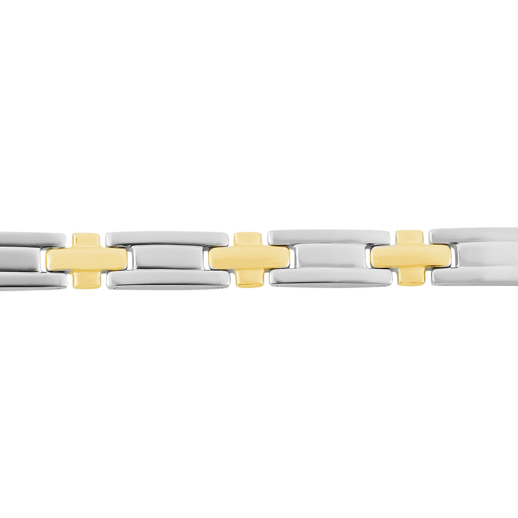 Bracelet Pierre Acier Bicolore - Bijoux Homme   Histoire d'Or