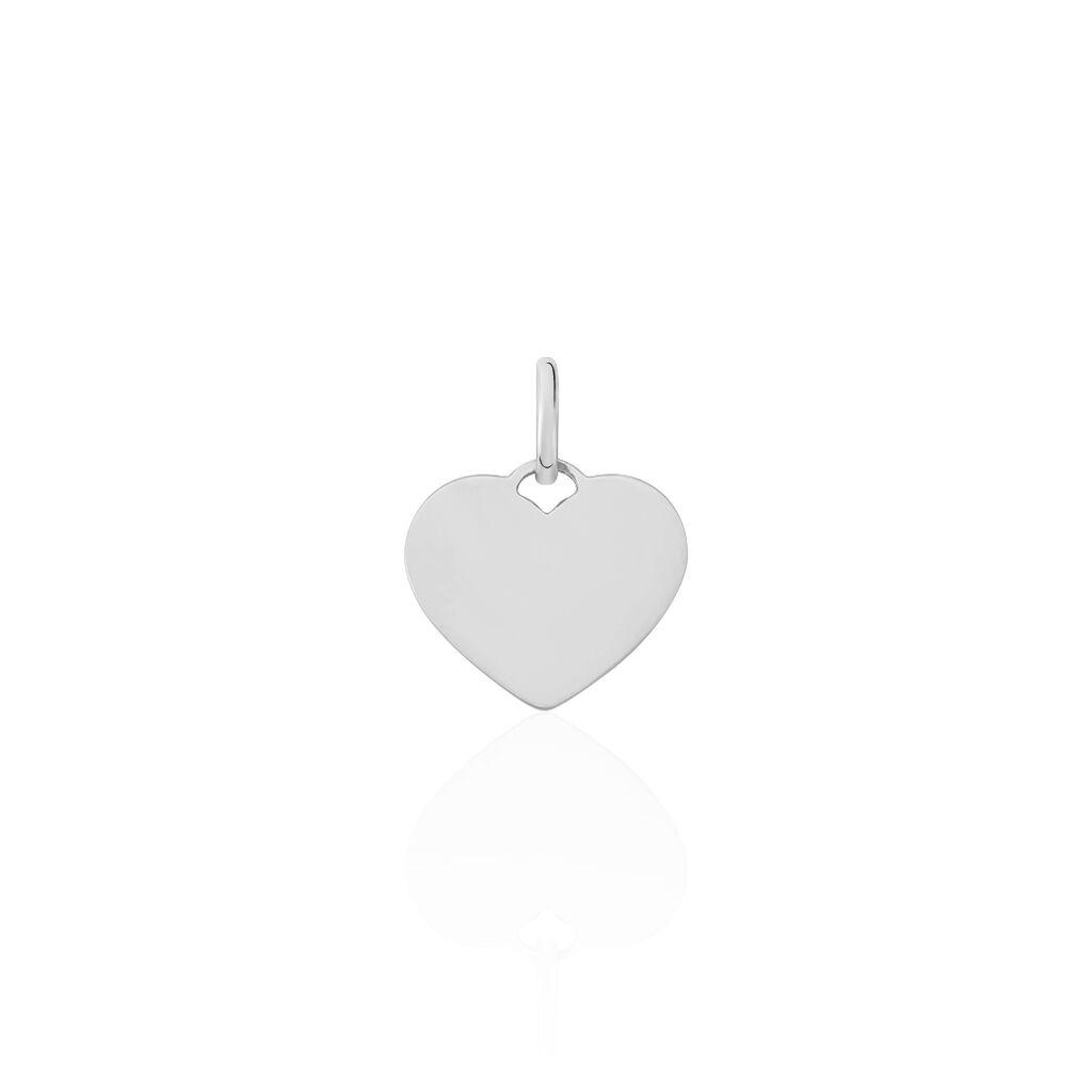 Pendentif Ange Coeur Or Blanc - Pendentifs Coeur Unisexe | Histoire d'Or