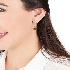 Boucles D'oreilles Argent Larissa Ambres - Boucles d'oreilles fantaisie Femme | Histoire d'Or