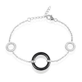 Bracelet Lylwen Argent Blanc Céramique Et Oxyde De Zirconium - Bracelets fantaisie Femme | Histoire d'Or
