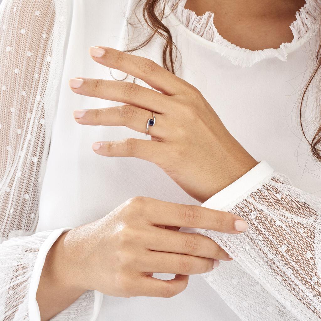 Bague Camilia Or Blanc Saphir - Bagues solitaires Femme | Histoire d'Or