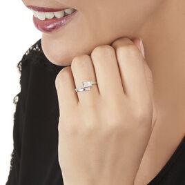 Bague Ainhoa Or Blanc Diamant - Bagues avec pierre Femme   Histoire d'Or