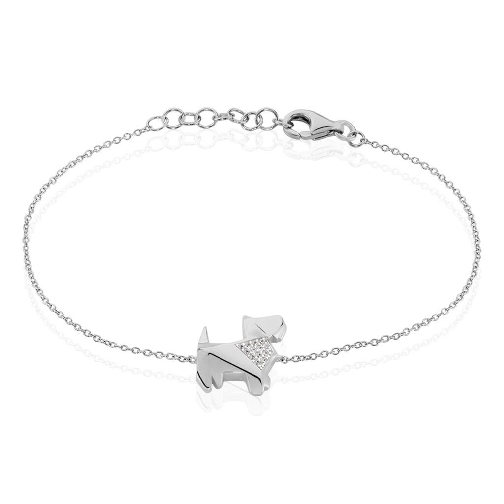 Bracelet Adalbert Argent Blanc Oxyde De Zirconium - Bracelets fantaisie Femme | Histoire d'Or
