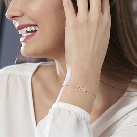 Bracelet Maryeme Infini Boules Or Jaune - Bracelets Infini Femme | Histoire d'Or