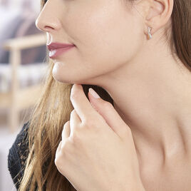 Boucles D'oreilles Puces Tonnia Or Bicolore Diamant - Clous d'oreilles Femme | Histoire d'Or