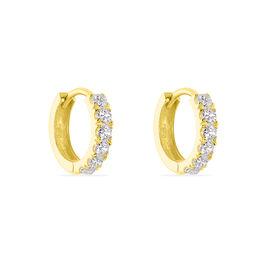 Créoles Andgelina Rondes Or Jaune Oxyde De Zirconium - Boucles d'Oreilles Infini Femme | Histoire d'Or