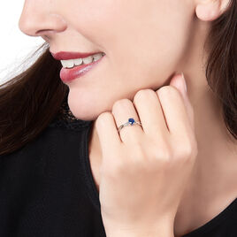 Bague Cassie Or Blanc Saphir Et Diamant - Bagues solitaires Femme | Histoire d'Or