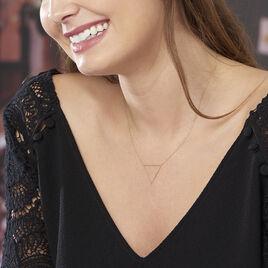 Collier Triangle Or Jaune - Bijoux Femme   Histoire d'Or