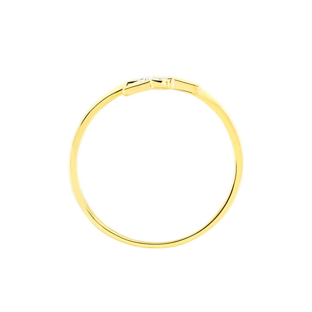 Bague Kylia Or Jaune Oxyde De Zirconium - Bagues Etoile Femme   Histoire d'Or