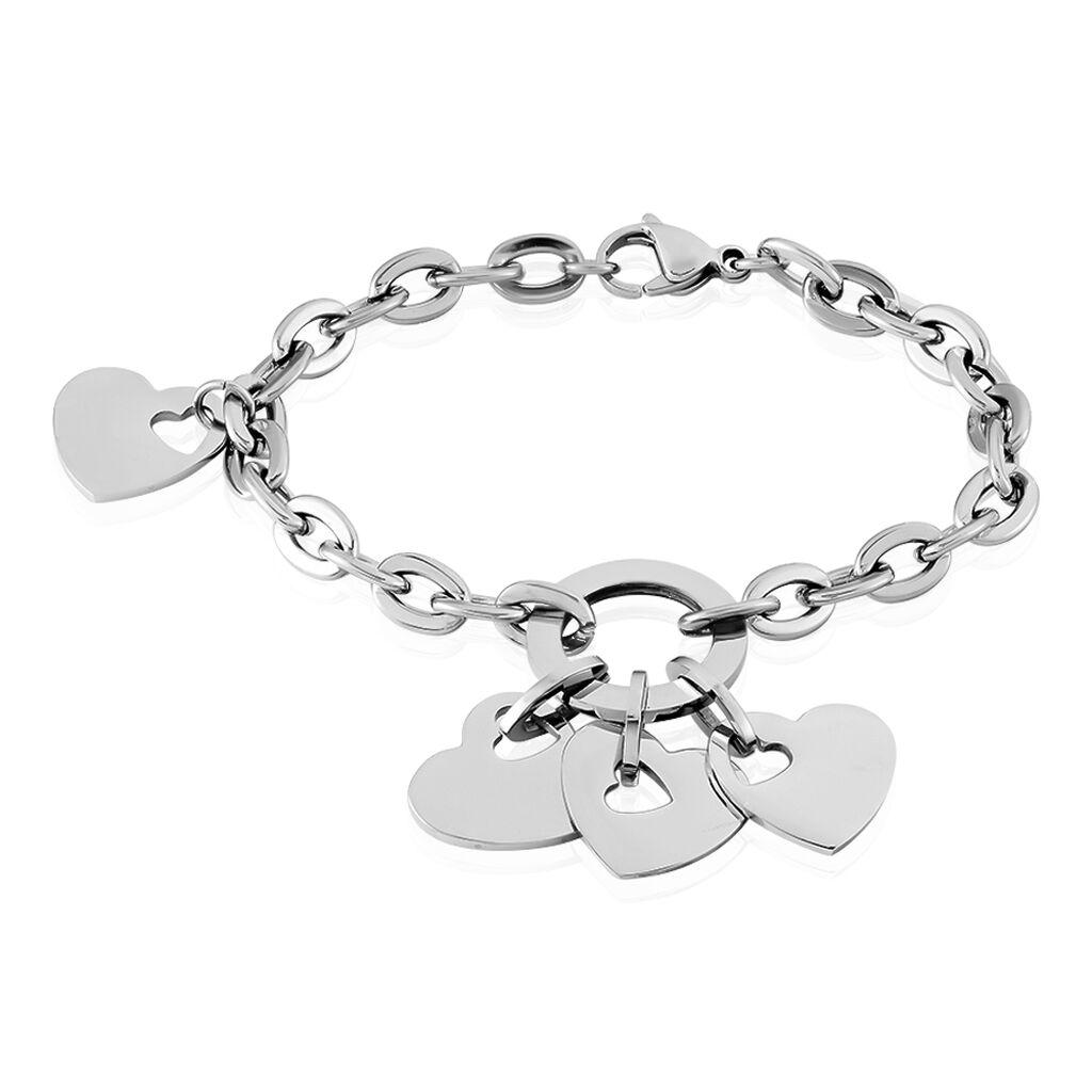 Bracelet Beleanne Acier Blanc - Bracelets Coeur Femme | Histoire d'Or