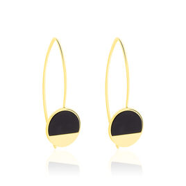 Boucles D'oreilles Pendantes Guenia Or Jaune Onyx - Boucles d'oreilles pendantes Femme | Histoire d'Or