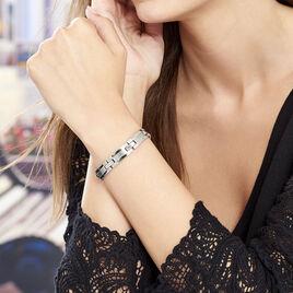 Bracelet Hector Acier Blanc - Bracelets fantaisie Femme | Histoire d'Or