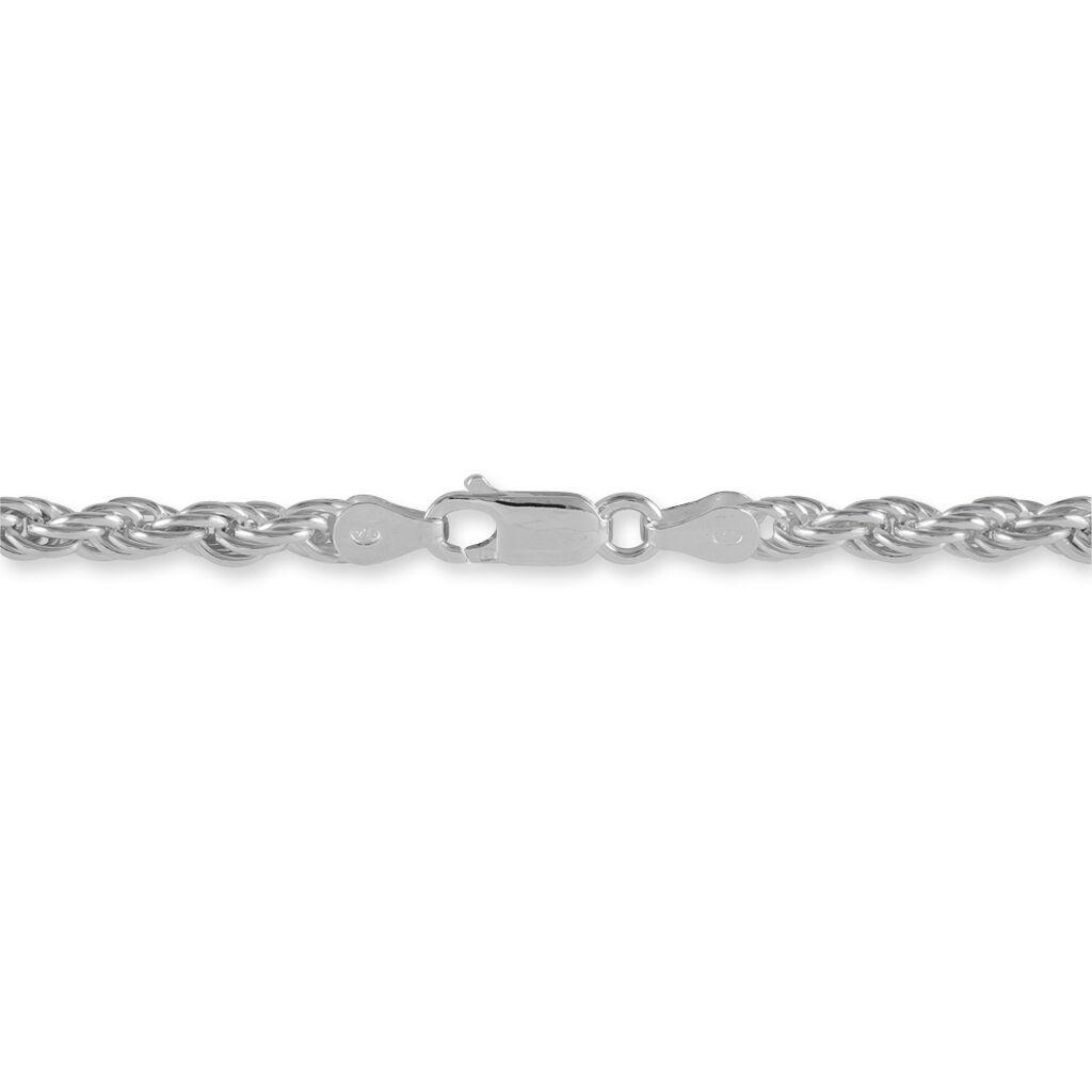 Bracelet Cacilda Maille Corde Argent Blanc - Bracelets chaîne Femme | Histoire d'Or