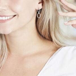Boucles D'oreilles Pendantes Adjara Argent Blanc Oxyde De Zirconium - Boucles d'oreilles fantaisie Femme | Histoire d'Or